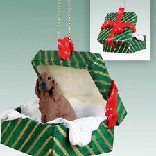 IRISH SETTER Dog Gift Box Holiday Christmas ORNAMENT