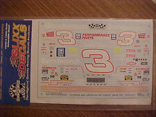 NEW 1994 DALE EARNHARDT #3 GOODWRENCH RACING 1/24 SCALE  WATER SLIDE DECAL SHEET