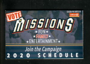 San Antonio Missions--2020 Pocket Schedule--Circle K--Brewers Affiliate