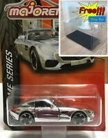 Majorette Mercedes AMG GT Silver Chrome Series Diecast 1:60 232B Free Displa Box