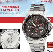 RED ARROWS RAF HAWK T1 LIMITED EDITION OFFICIAL CHRONOGRAPH MENS WATCH