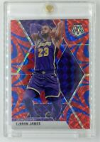 2019-20 Panini Mosaic Blue Reactive LeBron James #8, Lakers, Parallel
