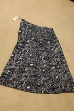 Forcynthia Skirt Blue & White Sz XL BackZip A-Line Long MSRP $58 Buy Now: $27.99