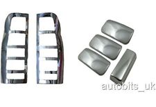 Ford TRANSIT MK6 MK7 chrome rear lamp &door handle cover 4door s.steel 2000-2012