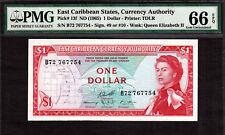 East Caribbean States ND (1965) One Dollar Pick-13f GEM UNC PMG 66 EPQ