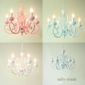 Modern 3 Colors Chandelier Iron LED Pendant Light Princess room Ceiling Lamp