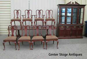 """58740 QUALITY   ELYSEE MATIGNON 10 PC Dining Set China Table 107""""L + 8 Chairs"""