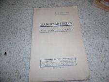 1933.Nuits mystiques d'après saint Jean de la croix.Clovis