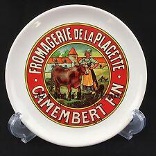 "Fromagerie De La Placette Camembert Fin 6.25"" Cheese Plate Milk Maid Cow Farm"