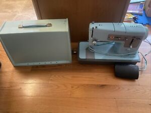 Vintage Robin's Egg Blue Singer Model 348 Sewing Machine with Foot Pedal