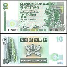 Hong Kong 10 Dollars, 1995, P-284b, UNC, SCB