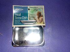 Vtg NOS New Ekco Chrome Metal Wall Mount Soap Dish C3800