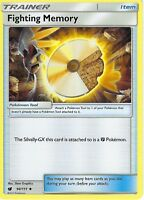 POKEMON SUN & MOON CRIMSON INVASION - TRAINER CARD: FIGHTING MEMORY - 94/111