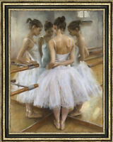 Hand-painted Original Oil Painting art Impressionism Ballet girl on canvas 30X40