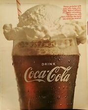 1966 Coca-Cola soda glass things go better with coke float vanilla ice cream  ad