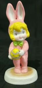 Campbell's Soup PINK EASTER BUNNY RABBIT holding egg Dolly girl figure figurine