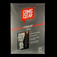 25-pack of Crystal-Clear Comic Clear Backing Boards - Current Age Size