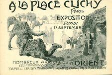 Publicité ancienne tapis d'Orient à la place Clichy 1906 issue de magazine