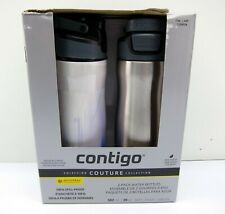 New 2 Pack Contigo Couture Collection 20 Oz Water Bottles BPA Free Spill Proof
