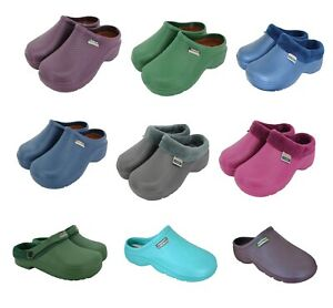 Town and Country Womens / Mens Gardening Clogs Lightweight Cloggies Multipack UK