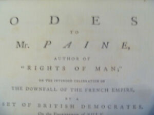 1791 Peter Pindar, pseud., Odes to Mr Paine .. the Downfall of the French Empire