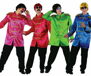 1960'S Sergeant Pepper Costume Beatles Pop SGT Icon Fancy Dress Outfit