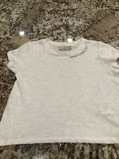 Abercrombie & Fitch White Tee New York City Cropped Size X Small