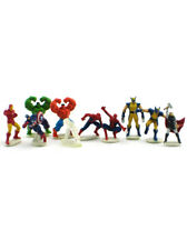 Marvel Comics Mini PVC Figure Set 10-Piece Spiderman America Hulk Treehouse Kids