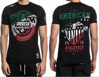 AMERICAN FIGHTER Mens T-Shirt GRAND CANYON Athletic MEXICO COLORS Biker $40 NWT