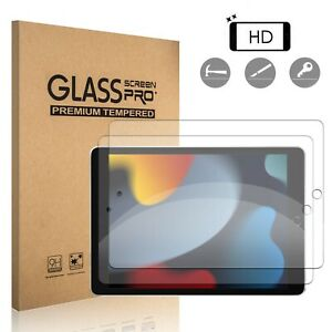 For iPad 7th 8th 9th Generation, 10.2 inch 2021 Tempered Glass Screen Protector