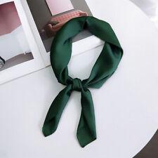Womens Ladies Square Silk Feel Satin Scarf Shawls Retro Head-Neck Hair Tie Band