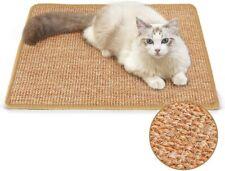 Cute Pet Cat Kitten Scratching Pad Mat Board Natural Sisal Scratcher Post Toy