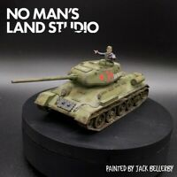 Pro Painted 28mm bolt action soviet T34 w/tank commander warlord games ww2