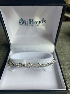 Prouds Sterling Silver and CZ Bracelet