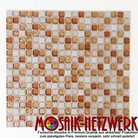 Glas Naturstein Mix gold ocker Küche Wand Boden Spiegel Art: WB92-1205   1 Matte