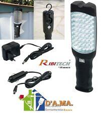 TORCIA LAMPADA PORTALAMPADA PORTATILE 48 LED RICARICABILE PER OFFICINA RIBITECH