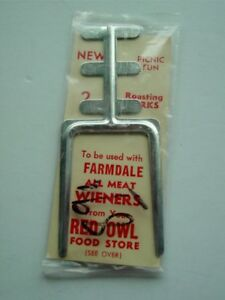 Vtg RED OWL FOOD STORE Roasting Fork AtachmentWeiners, Marshmallows Farmdale ONS