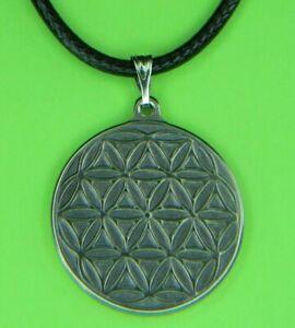 Pure titanium Carved flower of life pendant 18 - 20 Inches