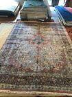 10'x14' Palace sized Kashmiri Silk Rug! Antique! Imported in 1970 from Srinagar