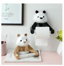 Resin Panda Figurin Roll Toilet Tissue Holder Wall Mounted Tissue Box Bathroom