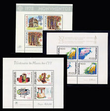 1978 Portugal Complete Year MNH. 3 Souvenir Sheets, Blocks.