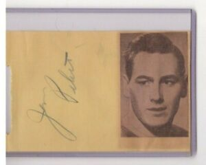 JIM PETERS SR & DON RALEIGH SIGNED 1940s NHL AUTOGRAPH ALBUM PAGE BRUINS RANGERS