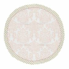 Amelia Blush Pink Gold White Damask Polka Dot Playmat Tummy Time Baby Play Mat