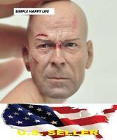 1/6 Bruce Willis head battle version die hard for hot toys phicen US Seller