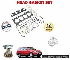 FOR HONDA CRV 2.0 VTEC K20A4 150BHP 2001-> NEW ENGINE HEAD GASKET SET COMPLETE