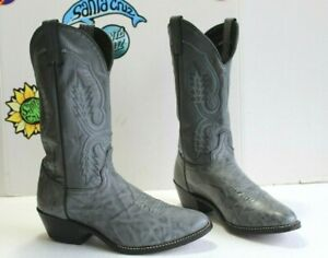 Vintage Abilene Men's Cowboy Western Gray Boots, Size 9 EE USA Made.