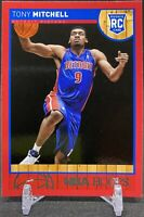 2013-14 NBA Hoops Tony Mitchell #293 Red Rookie Card RC Detroit Pistons Panini