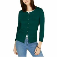 Charter Club Womens Size Small Textured Cardigan Sweater Balsam Green $40 1004