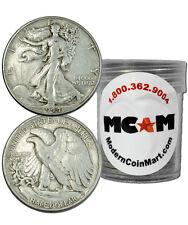 $10 Face Value Roll 1916-1947 90% Silver Walking Liberty Half Avg Circ Sku32667