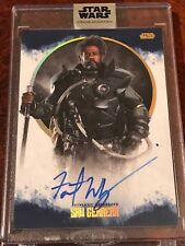 Star Wars Stellar FOREST WHITAKER as SAW GERRERA 19/25 Blue Autograph Auto